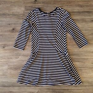 Gap Kids knit striped zipper back dress
